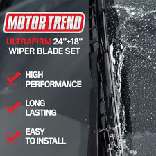 MOTOR TREND Wiper Blades Easy Connect Size 24 & 18 - Front Left and Right Set