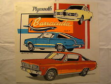 """Plymouth Barracuda 1960's 11.5"""" X 11"""" T Shirt Iron On Heat Thermal Transfer"""