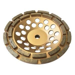 "7"" Concrete Grinding Cup Wheels 24 Diamond Abrasive Seg 5/8""-11 Arbor Double Row"