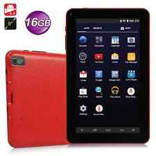 "9"" Android4.4 A33 Quad Core 1G+ 16GB Pad Dual Camera Bluetooth Tablet PC US Red"