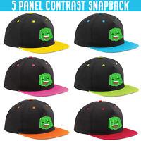 Jelly Viral Cap Gamer Kids Youtuber Hat Girls Boys 5 Panel Contrast Snapback