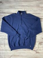 Russell Athletic Navy Quarter Zip Fleece Pullover Size XXL