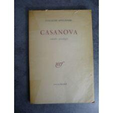 Apollinaire Guillaume Casanova comédie parodique  Gallimard NRF 1952 Edition  or