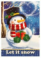 "NEW Let It Snow House Flag 28""X40""  Winter & Christmas Decorative Flag"