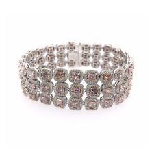 Fein Echt Pink Diamanten - Armband 20.07ct Natürlich Kostüm 18K Gold