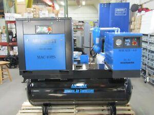 Air-Max 10hp.1 ph Rotary Screw air Compressor W/dryer/filters 12 Year Warranty