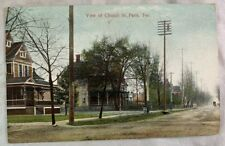 Antique Postcard 1912 View of Church St Paris Texas