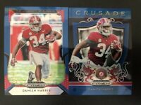 Damien Harris 2019 Prizm Draft BLUE REFRACTOR 2 Rookie Card Lot Alabama Patriots