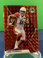 2020 Mosaic Football Larry Fitzgerald Red Mosaic Prizm #9 Arizona Cardinals