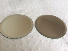 Two Round Mirror Display Plates.