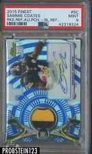 2015 Topps Finest Blue Refractor Sammie Coates RPA RC Patch AUTO /150 PSA 9
