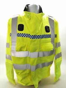 Ex Police Hi Vis Lightweight Bomber Jacket Grade 1 Yaffy Security Safety Vehicle