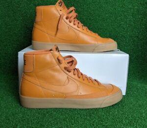 Nike By You ID Blazer Mid 77 Leather Pumpkin Orange Gum DO7396 991 US 11.5