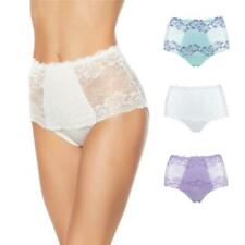 Rhonda Shear Lace Overlay Pin-Up Brief 3-pack-Demure Charm-Large-New