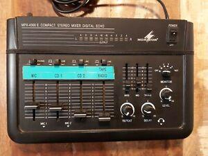 Monacor MPX-4300 E Mischpult analoger compact stereo mixer, digital echo
