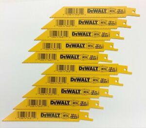 "10 New DEWALT 6"" Reciprocating Bi-Metal Saw Blades 18 TPI -Made in USA-Free Ship"