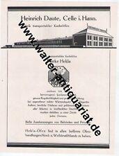 Hekla Kachelöfen Daute Celle Kachelofen Ofen Große Werbeanzeige von 1924 Reklame