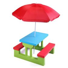 kids play table and chairs W/umbrella
