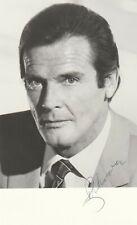 007-James Bond: Autographe Original: ROGER MOORE / Vintage.