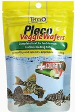 Tetra Pleco Veggie Courgette Wafers Complete Plec Food Bottom Feeding Fish 42g