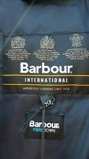 Barbour International Impeller Quilted Down Jacket Coat X Large Navy Blue