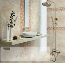 Bronce Antigua Clásica baño grifo del ducha de lluvia Conjunto Grifo Mezclador Mano Spra
