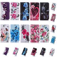 Schmetterling Design Book Style Flip Cover Handy Tasche Schutz Hülle Case Etui