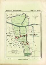 ANTIQUE MAP-NETHERLANDS-WASPIK-NOORD BRABANT-KUYPER-1865