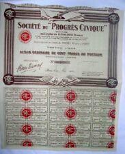 Action Ancienne: SA du progres civique ( 494 )