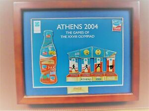 1  COCA COLA  ATHEN 2004 PIN RAHMEN MIT 17 PINS