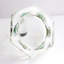 Stunning clear lucite bracelet with six exotic real bugs