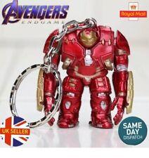 Marvel Avengers IRON MAN Hulk Buster Action Figure End Game Key Ring UK Seller