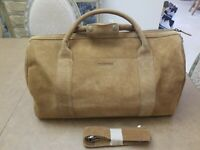*Rare* Tecovas LARGE Desert Suede Leather Duffle Weekender Travel Bag NIB $395