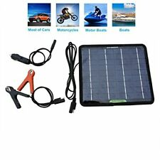 Portable Solar Powered Battery Charger for Car / Boat / Snowmobile & More (12V)