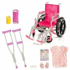 """Beverly Hills Doll Collection Heal Care Wheelchair & Accessories Set for 18"""" New"""