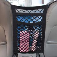 1x Universal Car Seat Organizer Pocket Cargo Net Mesh Storage Bag Car Accessory