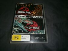 Jurassic Park Double DVD Movie Pack - 2 Disc Set The Lost World- Free Postage