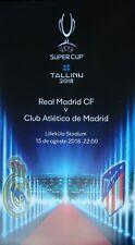 Fan Leaflet Uefa Super Cup 2018 Real Madrid - Atletico Madrid (Spanish)