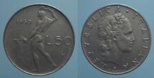 REPUBBLICA ITALIANA RARO 50 LIRE 1960 R VULCANO qBB
