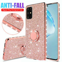 Bling Glitter TPU Case for Samsung Galaxy S20 S9Plus/S20 Ultra Ring Holder Cover
