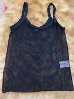Kookai black mesh unpadded Camisole Top sleepwear nightwear size S it1