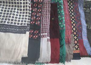 Vintage Retro Luxury MOD Collection Bundle Of Scarves  X 10 Multi Colour