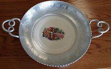 Vintage Farberware Aluminum & Limoges Triumph Ceramic Center Plate Serving Tray