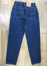 Vtg 90s Levis 550 Relaxed Tapered High Waist Jeans USA MADE Wmns 12 M Waist 30""