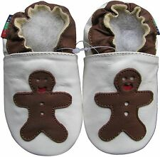 shoeszoo gingerbread white 18-24m S soft sole leather baby shoes