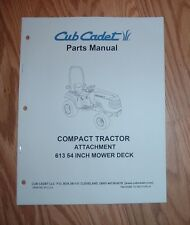 CUB CADET 6000 & 7000 SERIES 613 54 IN MOWER DECK PARTS MANUAL