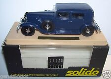 AGE D'OR SOLIDO OLD RENAULT REINASTELLA RM2 1934 BLEU FONCE 1/43 IN BOX