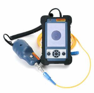 Handheld 400X Fiber Optic Inspection Microscope 3.5 inch Video Fiber Inspector