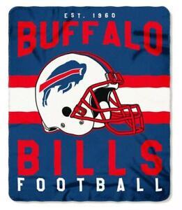 "NFL Buffalo Bills Singular Design Large Soft Fleece Throw Blanket 50"" X 60"" NEW"