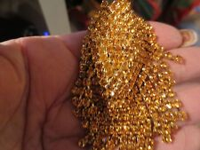 "RED CARPET  DK.GOLD SWAROVSKI RHINESTONE CLIP EARRINGS NEW CUSTOM MADE ""3''"